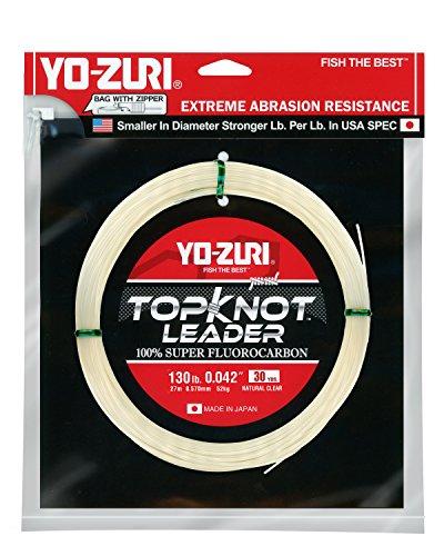 Yo-Zuri Topknot 30 yd Sinking Leader, Natural Clear, 130 lb