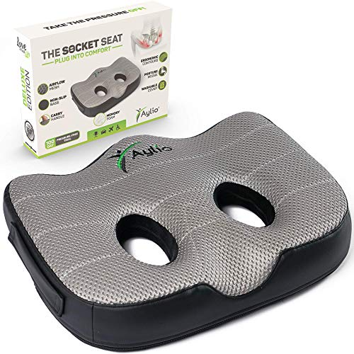 Socket Seat - Memory Foam Sit Bone Relief Cushion for Butt,