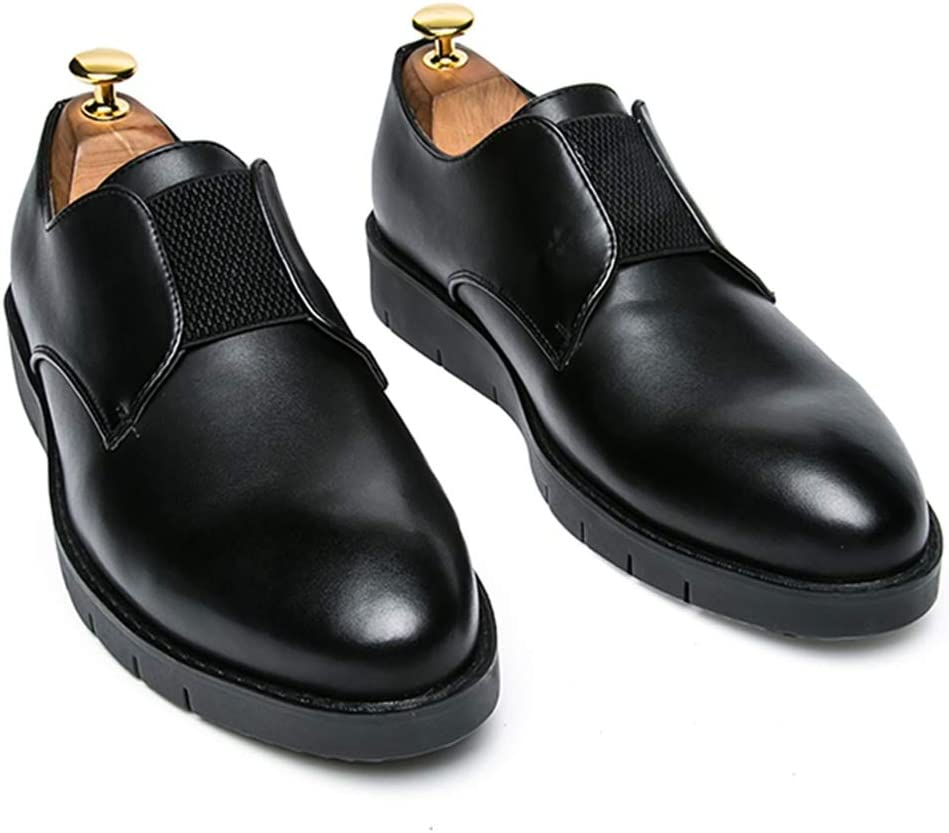 M Color : Black, Size : 7.5 D Zhukeke Mens Formal Business Oxford Casual Slip-on Loafer Rubber Outsole Dress Shoes Wear-Resistant US