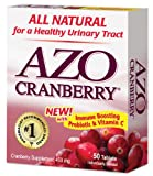 AZO All Natural Concentrated Cranberry Tablets, 50-Count Boxes (Pack of 3)