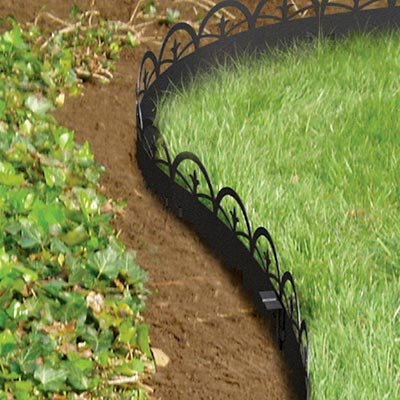Panacea Arched Finial Landscape Edging, Black, Quantity 12