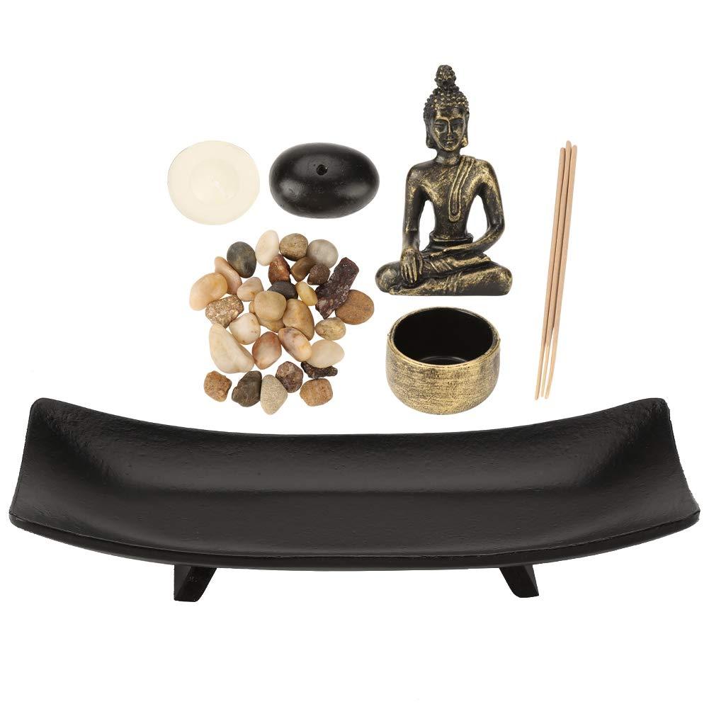 Tabletop Buddha Statue Buddha Statue Zen Garden Sand Meditation Peaceful Relax Decor Wal front