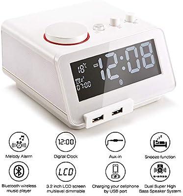 Amazon.com: Homtime C12 - Radio despertador multifunción y ...