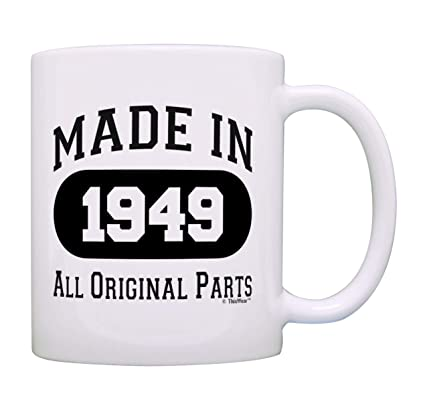 Amazon 70th Birthday Gift Made 1949 Party Decorations Coffee Mug Tea Cup White Kitchen Dining
