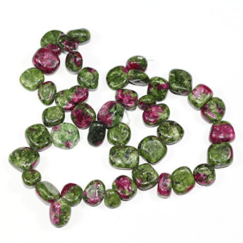 AAA Natural Ruby Zoisite Gemstones Smooth Teardrop Loose Beads Free-form ~18x10mm beads for Jewelry Making (1 strand, ~16