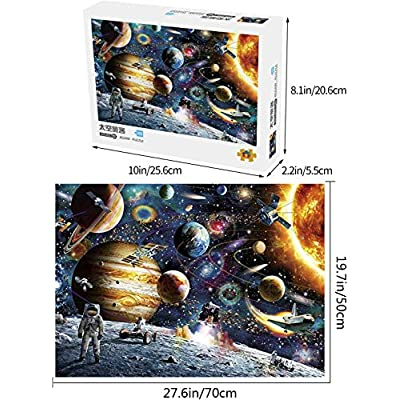 Space Puzzle 1000 Piece Jigsaw Puzzle Kids Adult – Planets in Space Jigsaw Puzzle, Puzzle Game Artwork for Adults, Every Pieces Fit Together Perfectly: Toys & Games