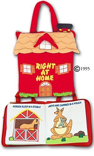 Pockets of Learning Right at Home Quiet Book Animal Activity Busy Book for Toddlers and Children