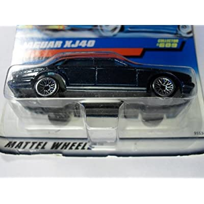 Hot Wheels Jaguar Xj40 Collector #609 Navy Metal Flake Blue, Black Base.: Toys & Games