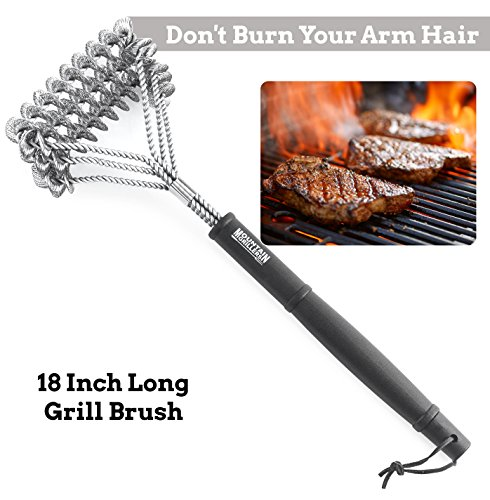 EASTER DEAL GRILL BRUSH - Best BBQ Brush To Prevent Flare Ups For That Perfect Checkerboard Steak - Safe Grill Brush Bristle Free For Charcoal & Gas Grill Cleaning (Barbaque Grill)