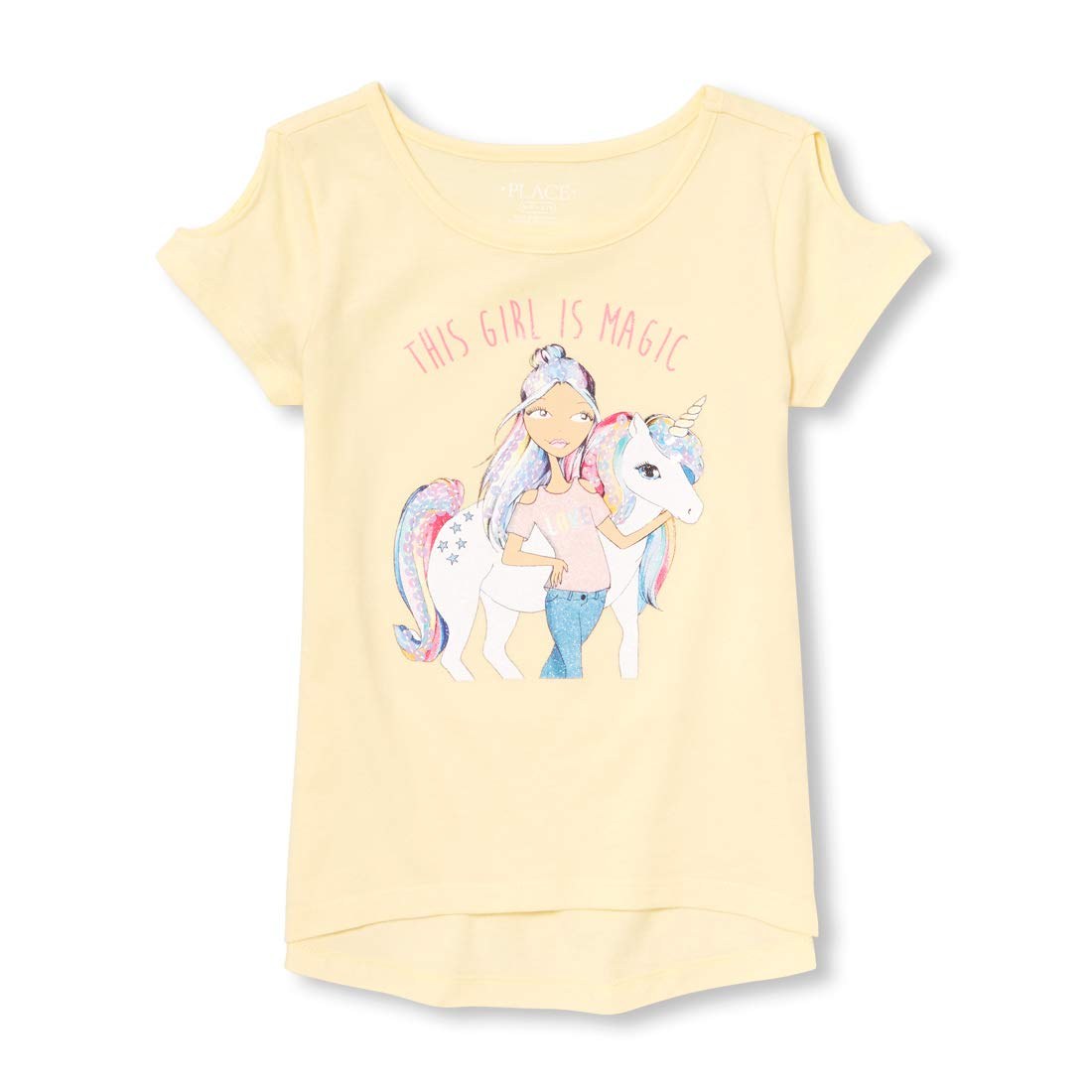 The Childrens Place Big Girls Short Sleeve Graphic T-Shirt