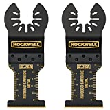 Rockwell RW8963.2 Tools Sonicrafter Oscillating Multitool Extended Life Carbide End Cut Blade (2 Pack), 1-3/8''