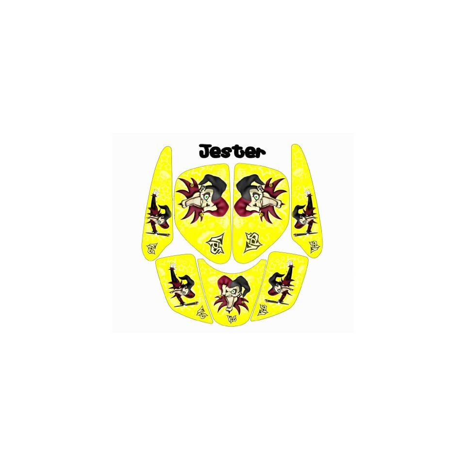 MotoGHG Yellow Jester Graphic Kits for Yamaha Raptor 660