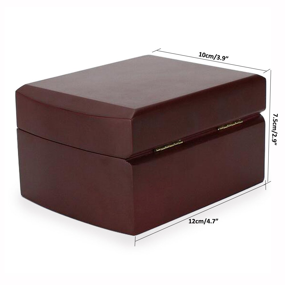 AVESON Luxury Watch Box Holder Organizer, Premium Wooden Jewelry Bracelet Storage Gift Case Single Grid by AVESON (Image #3)