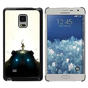 KLONGSHOP // Cubierta de piel con cierre a presión Shell trasero duro de goma Protección Caso - Gigante de peluche - Samsung Galaxy Mega 5.8 //
