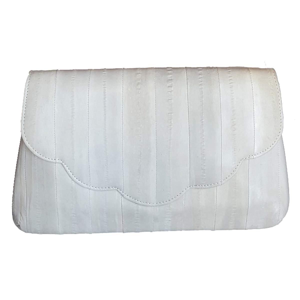 Sunflower clutch bag, chain clutch bag, natural genuine eelskin wallet