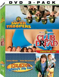 Chill Out 3-Pack DVD Set - Dude,Where's My Car?, Super Troopers, Club Dread