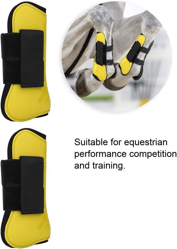 Negro Botas deportivas con ventilaci/ón para la PU Protegido para la parte delantera trasera del caballo Botas para la pierna delantera trasera Proteger las envolturas de soporte Cubierta ajustable