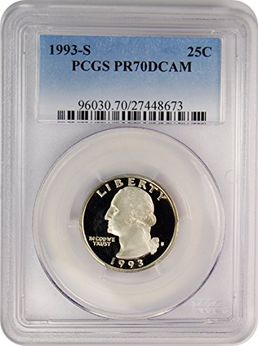 1993 S Washington Quarter Quarter PR70 PCGS