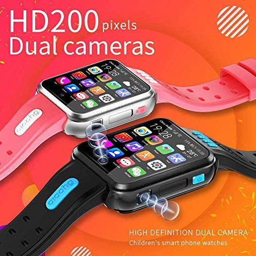Smart Watches for Kids, GPS LBS Tracker 4G Phone Watch with Dual Camera/SIM Card Slot for Call/Message/WeChat Video Voice Chat/Game/WiFi 518PdG5GFoL