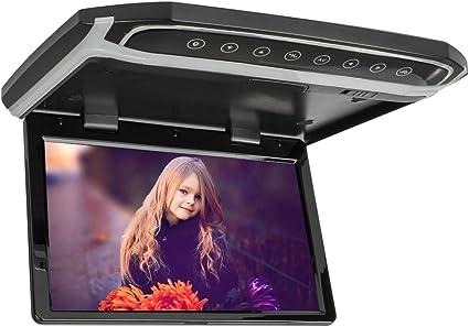 22 Zoll Auto Flip Down Monitor HDMI 1080P HD TFT LCD Dachmontage Monitor Ultra Thin Overhead MP5 Player f/ür Auto SD MP3 MP4 LED mit FM Transmitter USB,black