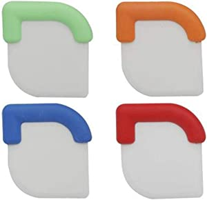 Kitch N' Wares Silicone Pot Scraper - Set of 4 Durable Scrapers with Grips - Perfect for Messy Pan and Pot, Kitchen Accessory, Housewarming Gift, Cleaning Tool, Cooking