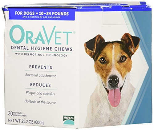 Merial 30 Count Oravet Dental Hygiene Chew for Dogs 10-24lbs