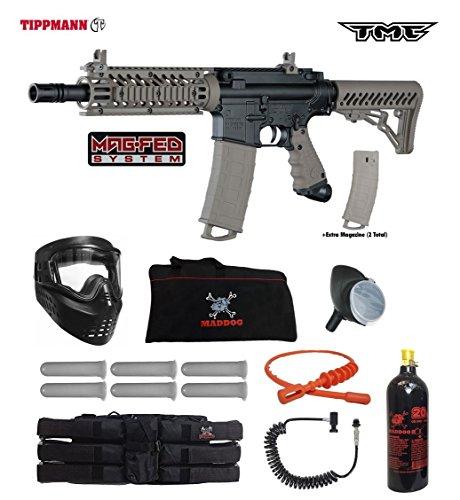 (Tippmann TMC MAGFED Corporal Paintball Gun Package - Black/Tan)