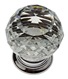 GlideRite Hardware 9003-CR-30-50 K9 Crystal with Polished Chrome Base Cabinet Knobs, 50 Pack, Small, Clear