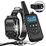 BuddiPets Shock Collar for Dogs, 2018 Upgraded Waterproof Dog Training Collar with Remote 2600ft Range LED Light Tone Vibration Shock Dog Shock Collar for Medium Large Breed, Neck Lanyard Adapter
