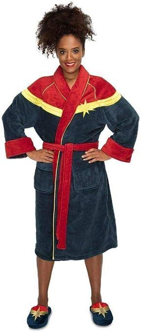 Groovy Captain Marvel 124022495 - Albornoz para Mujer, Forro Polar ...