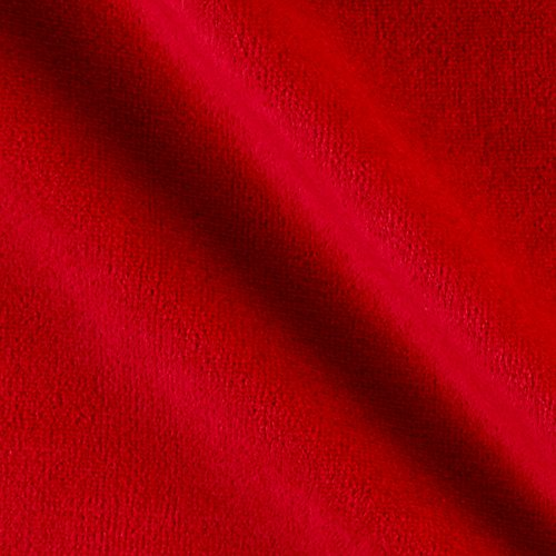 Solid Velour Red MX Fabric By The - Mx Com