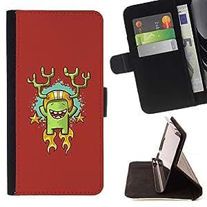 Momo Phone Case / Flip Funda de Cuero Case Cover - Cactus héroe;;;;;;;; - Samsung Galaxy Note 3 III