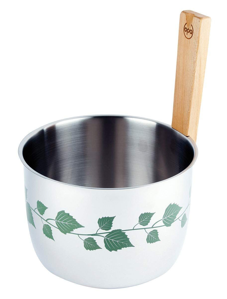OPA Stainless Steel Sauna Bucket Summer - Finnish Design - Opa Muurikka Oy TO264