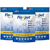 Flexpet Maximum Strength Soft Chews – All-Natural Pain Reliever for Dogs with Glucosamine and Cetyl Myristoleate (CM8), Hip and Joint Supplement, Anti-Inflammatory: Three Pack - 180 Soft Chews