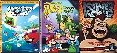 Everybody has Heard About the Angry Birds Season Three - Volume One, King Kong: Animated Series Volume 1 & The Adventures of Super Mario Bros. 3: Koopas Rock 3-DVD Bundle