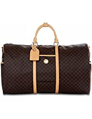Signature Brown Duffel Traveler by Rioni Designer Handbags & Luggage