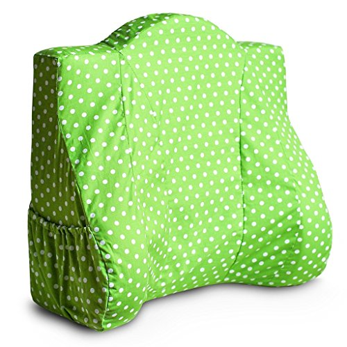 Back Buddy Removable Slipcover for Back Buddy Support Pillow, Harper (Green Dot Cotton) - Slipcover Only