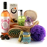 You're Pretty Pamper Hamper Luxury Gift Set for Women with Rose Wine and Unique Wine Label with Chocolates Candle and Pampering Bath and Beauty Products