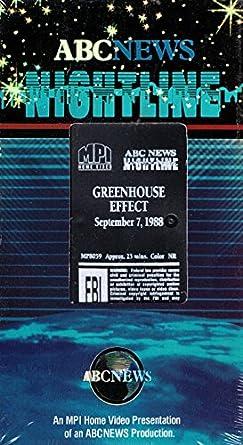 Amazon com: Nightline:Greenhouse Effect [VHS]: Nightline: Movies & TV