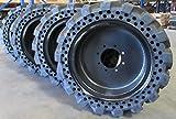 Summit Flat proof 10 X 16.5 Skid steer Tires W/ Rims Cat Deere Bobcat Gehl Solid