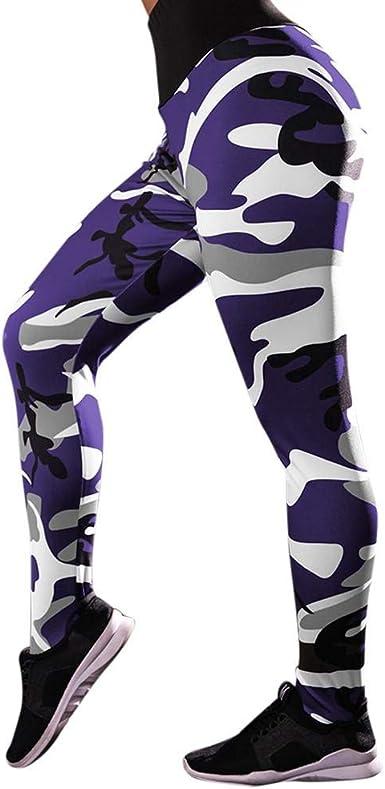 SHOBDW Pantalones Mujer Camuflaje Informal Imprimir Estampado ...