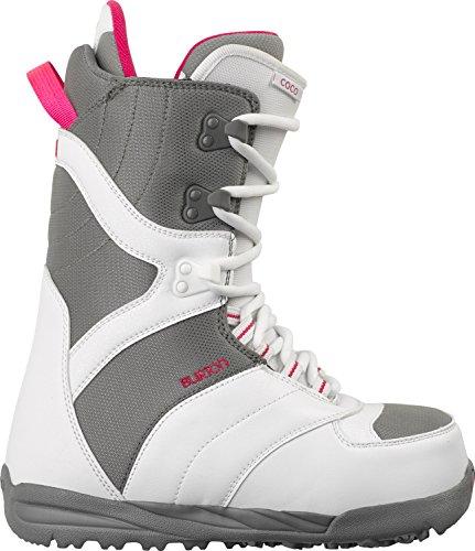 Burton Coco Snowboard Boots White/Gray Womens Sz 7