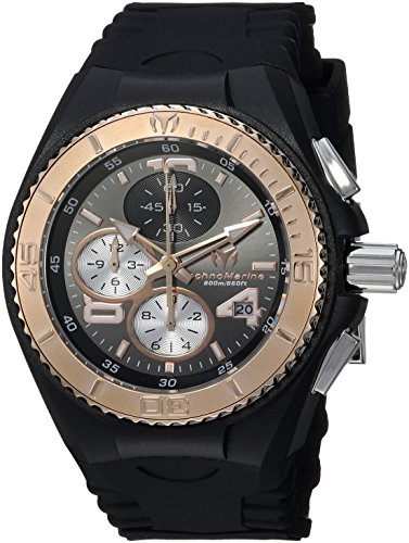 Technomarine Women's 'Cruise' Quartz Stainless Steel and Silicone Casual Watch, Color:Black (Model: ()