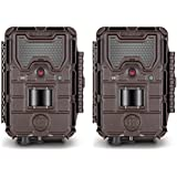 (2) Bushnell Trophy Cam HD Aggressor No-Glow Trail Camera (Brown)