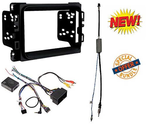 2013 - 2017 RAM DOUBLE DIN CAR STEREO INSTALLATION DASH KIT +HARNESS +ANTENNA (System Selector Universal)