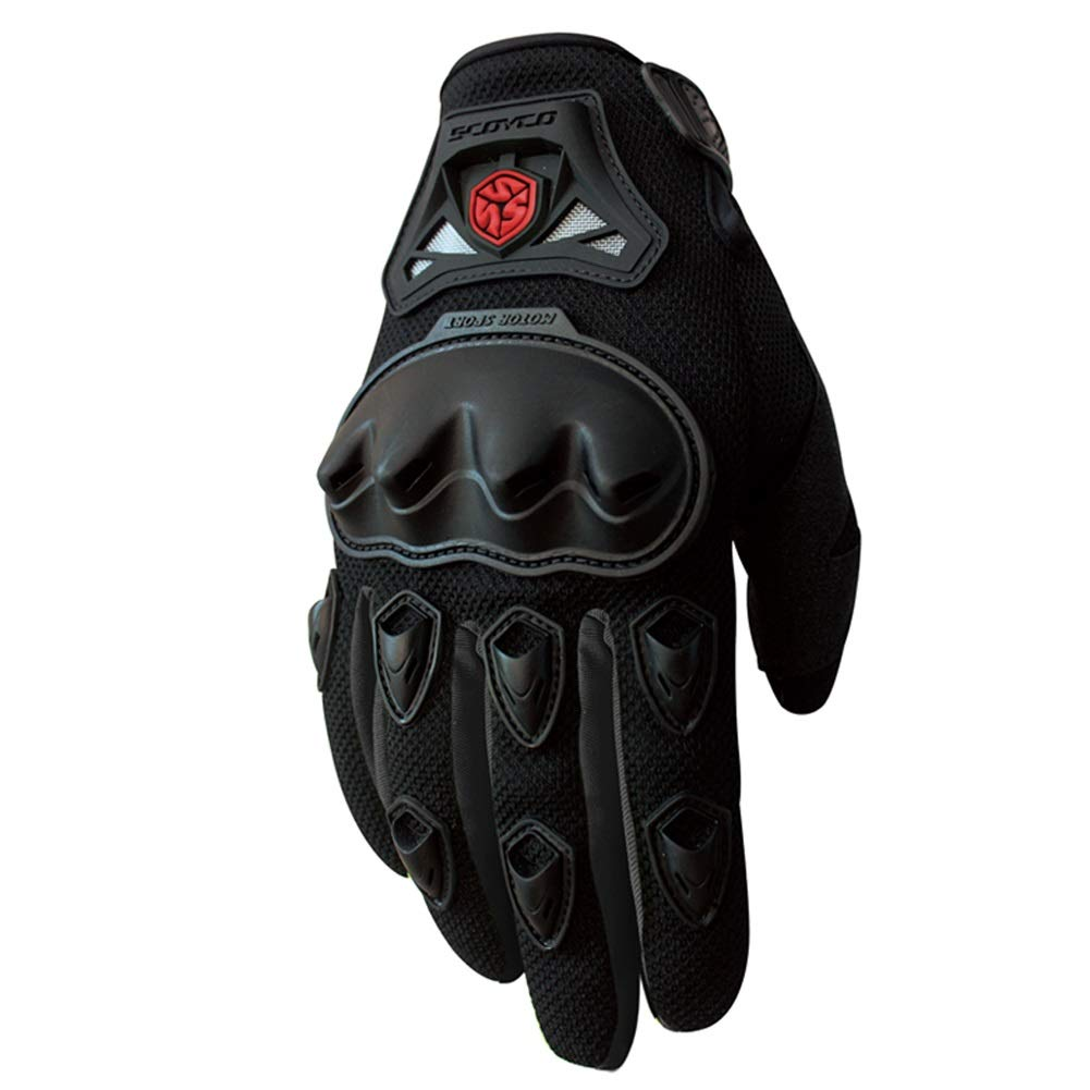 AINIYF Full Finger Motorcycle Gloves | Summer Men's Drop-Off Tactical Gloves Electric Car Racing Off-Road (Color : Black, Size : XL)