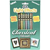 DMC 317WPK7 Light Effects Polyester Embroidery Floss, 8.7-Yard, Classical Blends