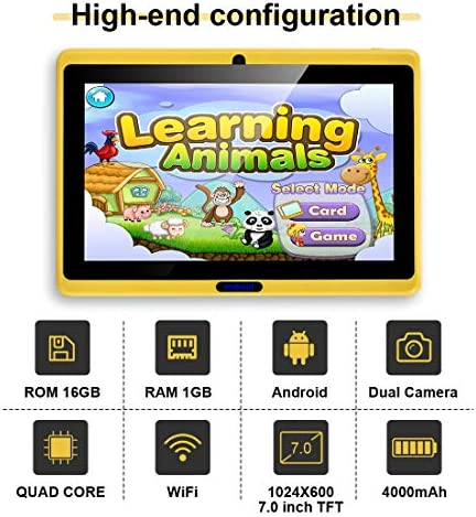 CARRVAS Tablet for Kids, 7inch WiFi & Android 8.1 KidsTablet 1G(RAM)+16G, Pre-Installed Iwawa, Parenting Control Tablet with Educational Games App 518PfqZmbKL