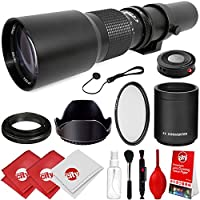 Opteka 500mm/1000mm f/8 Manual Telephoto Lens for Pentax K-70, K-50, K-3 II, KP, K-1, K-S2, K-S1, K-500, K-30, K5 IIs, K-7, K-5, K-2, K-X, K20D, K100D, K110D and K10D Digital SLR Cameras
