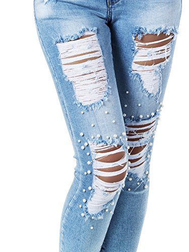 Diva jeans Basic Jeans Blau Skinny Donna AARrdfx